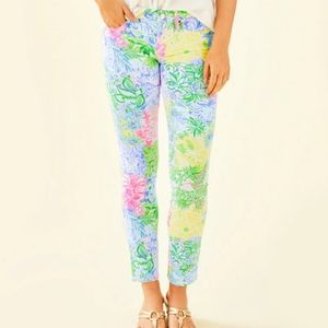 Lilly Pulitzer Cheek to Cheek South Ocean jeans